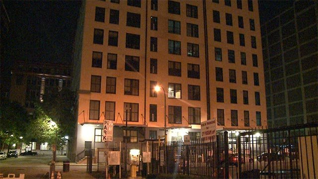 Two men with guns approached the couple as they were walking out of an apartment building in the 1600 block of Lucas