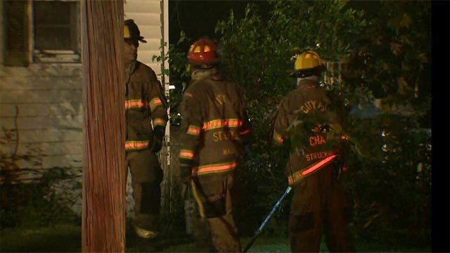A home in St. Charles County caught fire after an explosion early Tuesday