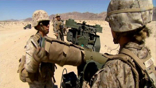 It may look like standard military training, but in the California desert, a group of Marines could be making history.