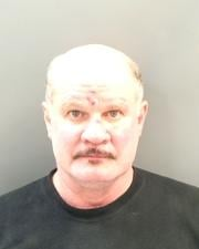 Kenneth Montgomery, 53, allegedly stormed into the victim's house, threatened to kill her, then beat her with a walker.