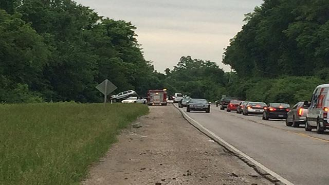 The woman's SUV traveled off of the roadway and struck a tree at Illinois 157 and Pocket Road