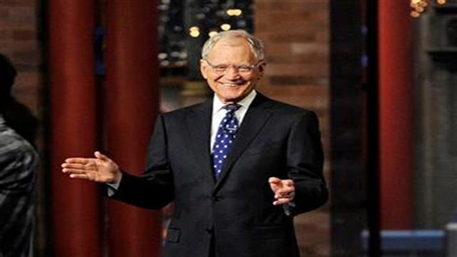 """(Jeffrey R. Staab/CBS via AP). In this image released by CBS, David Letterman appears during a taping of his final """"Late Show with David Letterman,"""" Wednesday, May 20, 2015 at the Ed Sullivan Theater in New York."""