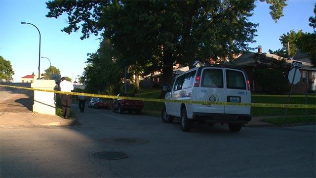 A man was shot in the 100 block of Bellerive Thursday evening