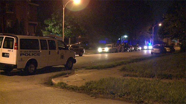 A suspect was taken into custody in north St. Louis after a police chase Thursday