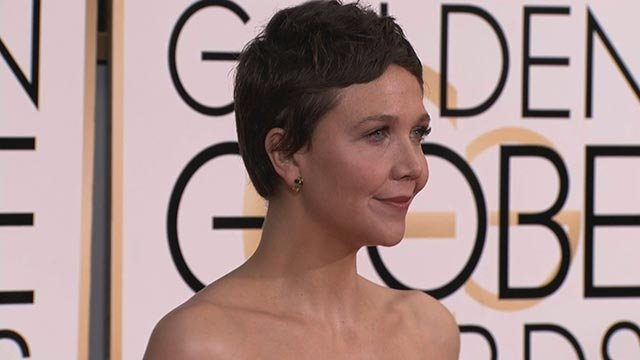 (Credit: CNN) Maggie Gyllenhaal on the red carpet before the 2015 Golden Globe Awards in Los Angeles, CA, January 11, 2015.