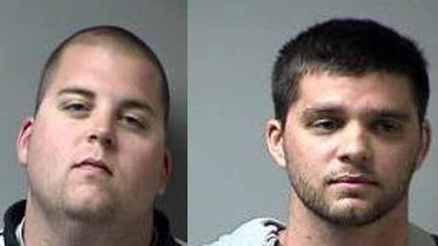 Clayton (L) and Adam Syberg are charged with stealing animals. The two allegedly stole a snake from a Petco store in Dardenne Prairie. Police believe the two may also have stolen a snake from a Petland  store in Lake St. Louis