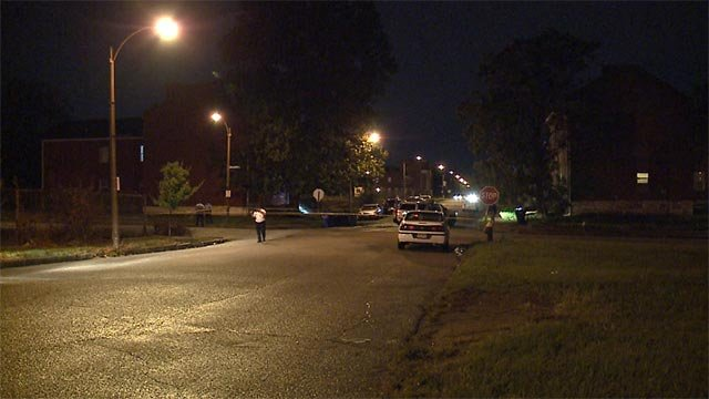 Four people were shot in the 2700 block of Dayton Sunday night