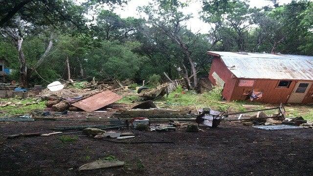 Flash flooding leaves behind destruction in San Marcos, TX.