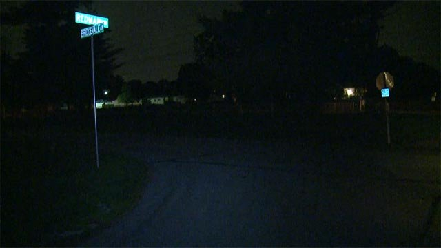 The body of a man was found lying in the 1200 block of Redman Boulevard around 11:30 p.m. Monday