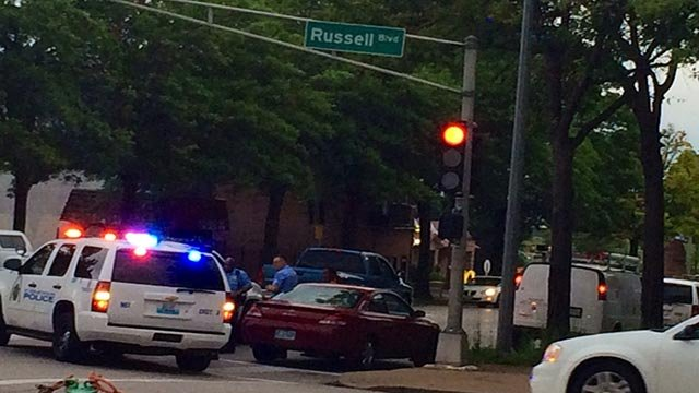 A pedestrian was struck on South Jefferson Avenue and Russell Boulevard early Tuesday morning