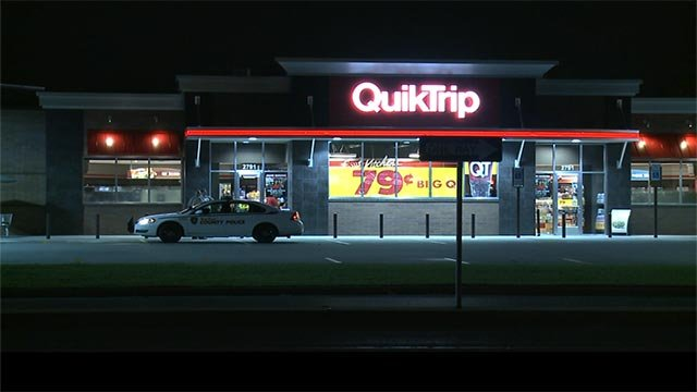 Police are searching for a man who robbed a QT Tuesday morning.