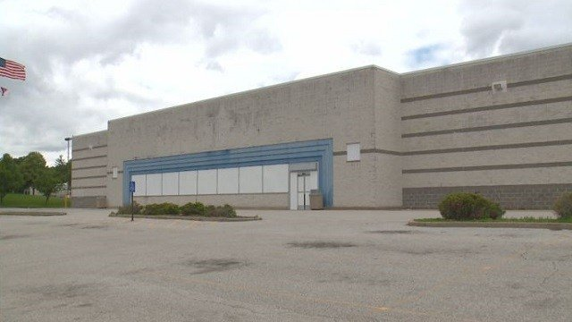 Once occupied by a large chain store, this building now sits vacant.