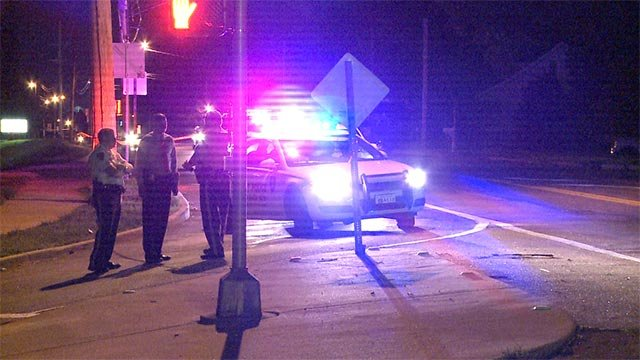A group of teenagers were in a car on Redman and Old Halls Ferry when they were robbed and shot at late Tuesday night.