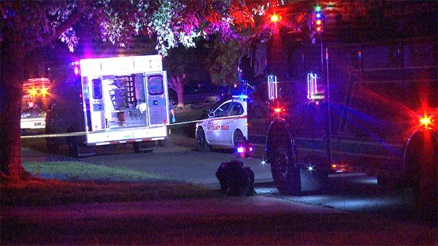 A man was murdered in the 9800 block of Dennis Drive just before midnight Tuesday