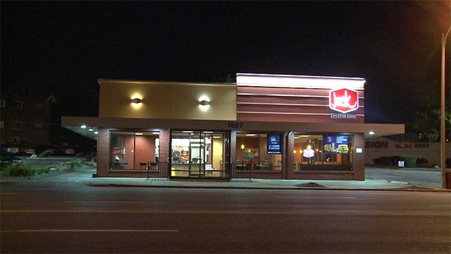 Customers at a South City Jack in the Box became victims of an armed robbery while they waited for their food.
