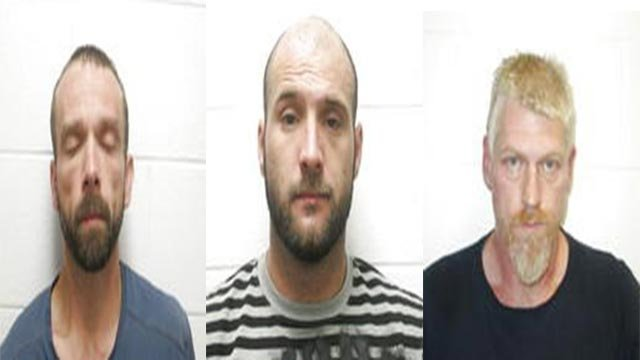 James Riggs, Jr., 48, of Cherryville, Michael A. White, 37, of Doe Run, and Joseph Michael Yarrow, 30, of Steelville are accused of breaking into a man's house and beating him until he agreed to sign over his jeep.