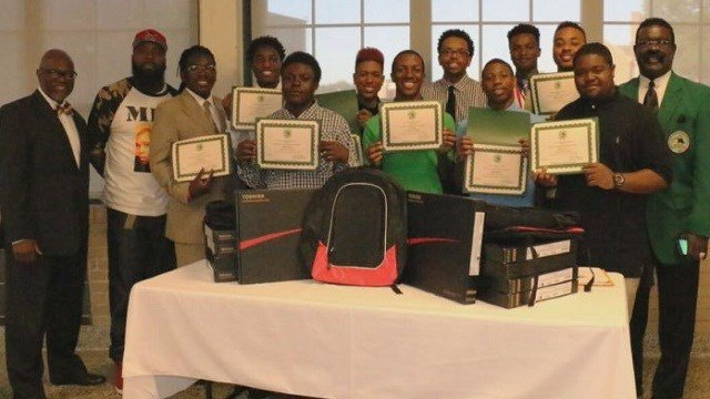 Students from Normandy High School receive scholarships from Real Life 101.