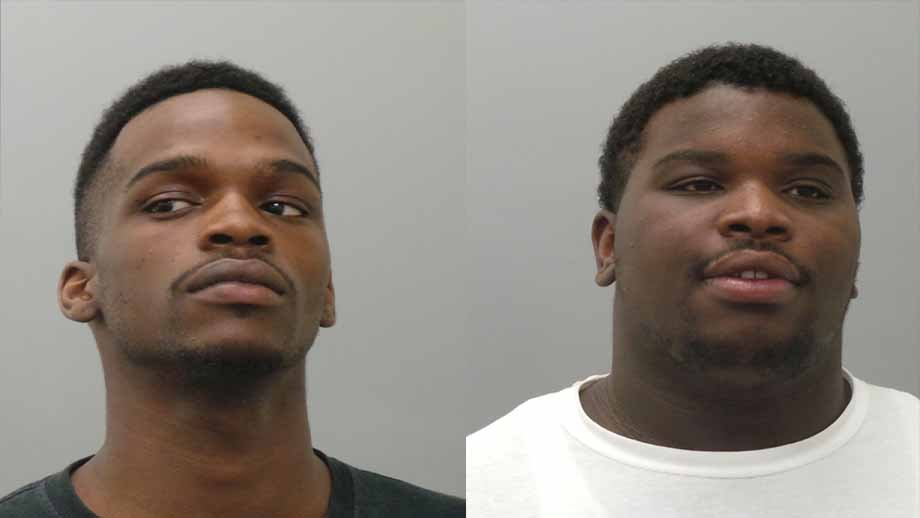 Lovell Harper and Montrell Duff, both 20, allegedly broke into the residence and ordered the victims to lay down in the bathtub. The victims were told they would be shot if they moved, according to a probable cause statement.