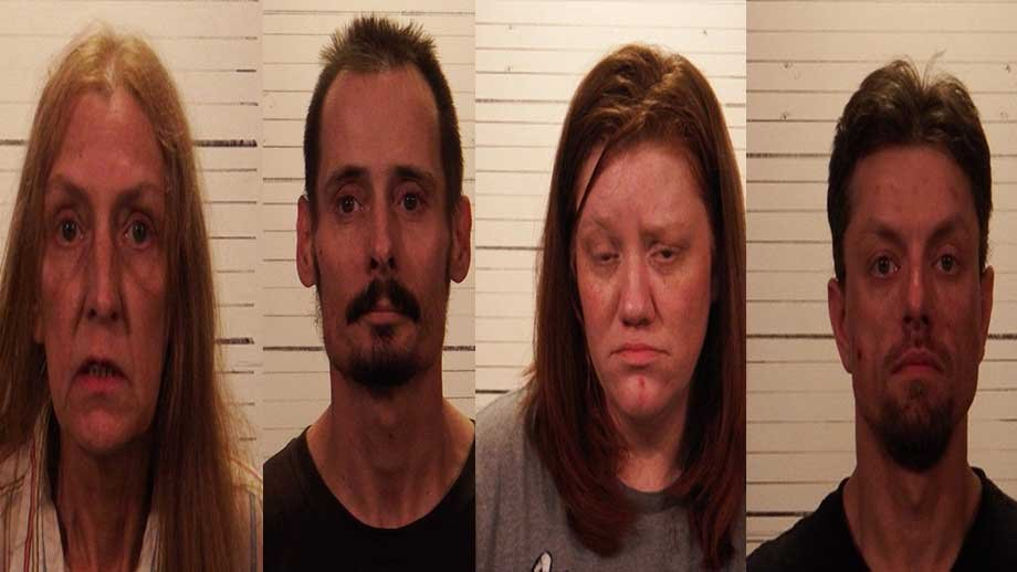Zachary Johnson, 36 and Amanda Fears, 34, are charged with aggravated participation in meth manufacturing. Jeremy Jordan, 43, and Linda Sonsoucie, 63, are charged with unlawful procurement of meth precursors.