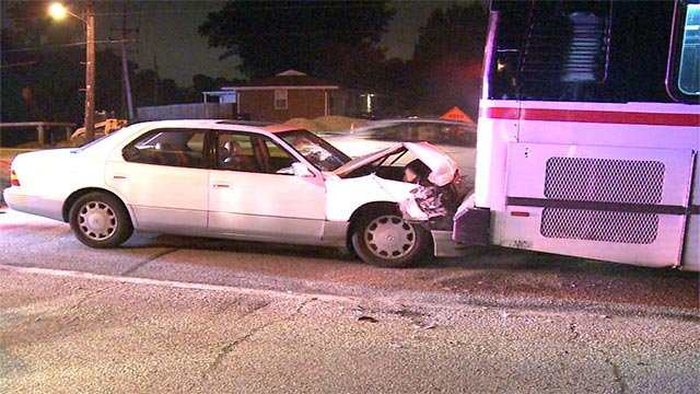 The crash occurred in Ferguson at West Florissant and Northwind Estates Drive just after midnight Monday morning.