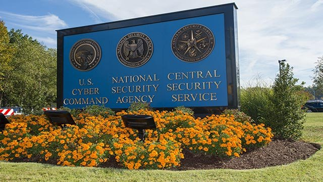 (Credit: National Security Agency) National Security Agency sign outside the NSA building in Washington, D.C