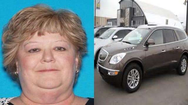 Linda McLaughlin was last seen Monday night. She drives a Buick Enclave with the Missouri license plate KA9-L49