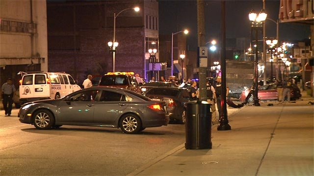 3 people were taken into custody after a car chase and crash Wednesday night