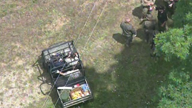 Numerous officials were seen searching a property in Franklin County Friday morning.