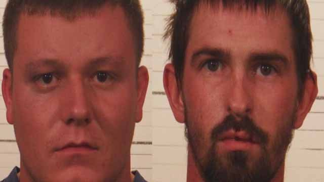 Anthony Pentecost and John Fox are charged with felony home invasion for allegedly breaking into a home in Caseyville to beat up Dustin Prestito. Pentecost was also charged with battery for hitting Prestito's girlfriend