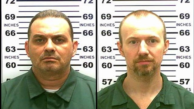 (Credit: New York State Police) 35-year old David P. Sweat (right), 35, and Richard Matt (left), 49, left decoys to trick guards into think they were asleep as they made their escape. Both were serving time on separate murder convictions.