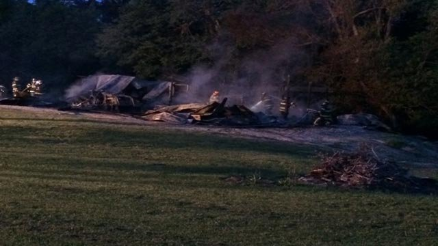 Firefighters from Hollywood Heights, State Park, Caseyville and French Village were called to assist with battling the blaze in the 1220 block of South Clinton Road around 4:30 a.m.