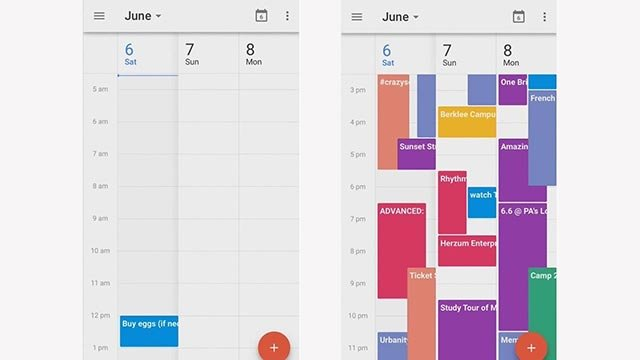 (Credit: Got This Thing) 	Your calendar -- before and after the Got This Thing app takes over.
