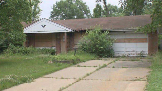 A home in Ferguson has been abandoned since a 2009 fire but the city has not yet taken action.