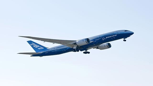 (Credit: Boeing) A provided photograph showing the Boeing 787 Dreamliner.