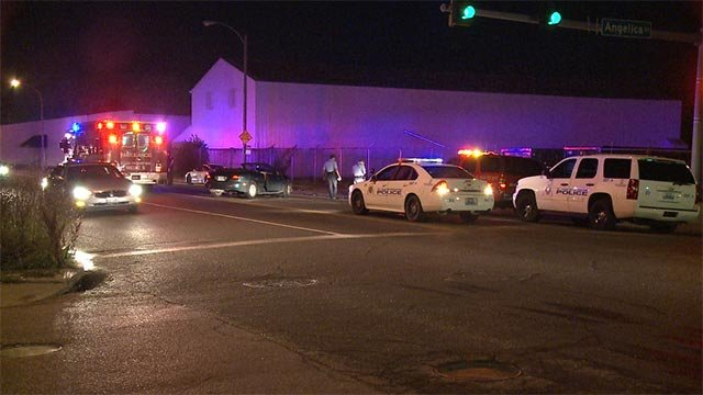 Two people were transported after a car crashed into a fence in north St. Louis overnight.