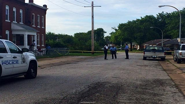 A man was shot in the Baden neighborhood Monday morning