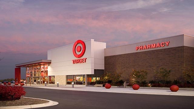 (Credit: Target) An exterior photograph of a Target store in Martinsburg, Virginia.