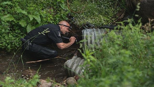 (Credit: Damian Battinelli) Police search Dannemora, New York and the surrounding area following the escape of Richard Matt and David Sweat from Clinton Correctinoal Facility on June 6, 2015.