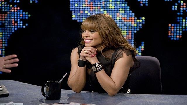 (Credit: Kyle Christy/CNN) Janet Jackson appears on CNN's Larry King Live on February 26, 2008.