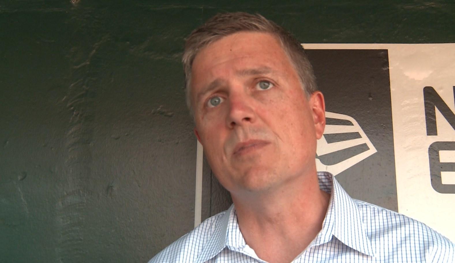 Jeff Luhnow at Busch Stadium in August, 2012