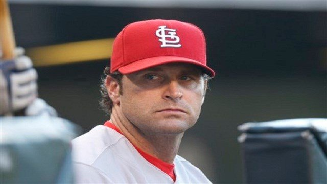 St. Louis Cardinals manager Mike Matheny looks on against the Colorado Rockies in the first inning of a baseball game Monday, June 8, 2015, in Denver. (AP Photo/David Zalubowski)