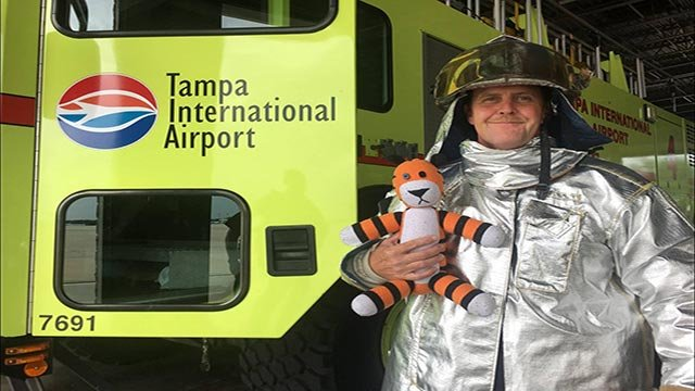 (Credit: Tampa International Airport) Owen, a 6-year-old boy, recently left behind his beloved stuffed toy, Hobbes, at Tampa International Airport.
