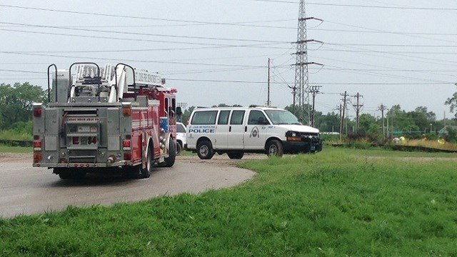 Authorities responded to the 8500 block of Virginia for a vehicle submerged in River Des Peres.