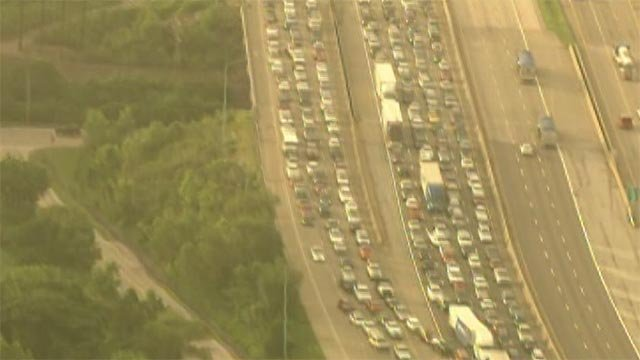 A multi-vehicle accident is causing major delays on northbound Interstate 270/Interstate 255 at southbound Interstate 55.