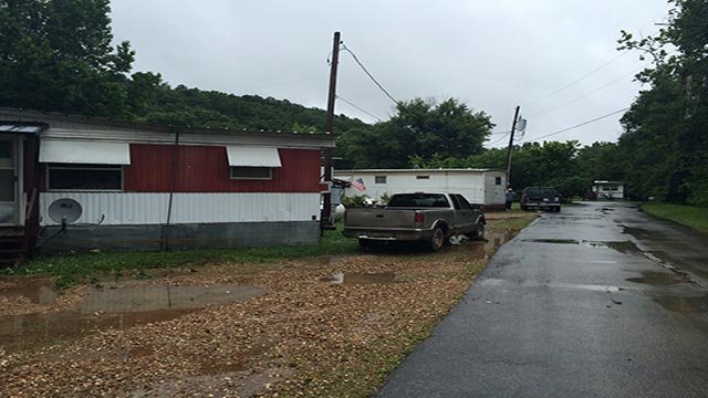 mobile home community on Cedar Street was evacuated around 4:30 a.m. after water in Yadkin Creek began rising.