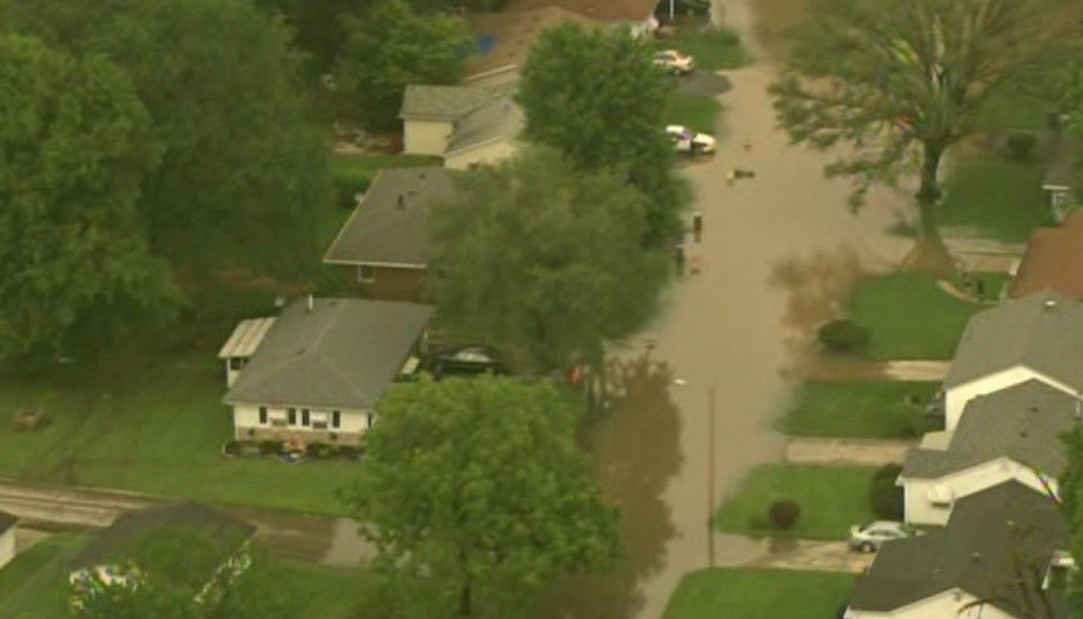 Water rescues underway in Centreville, Illinois