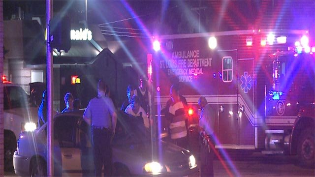 A woman was shot while driving along South Jefferson Avenue early Monday morning