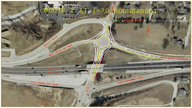 MoDOT will build a multi-lane roundabout starting in July