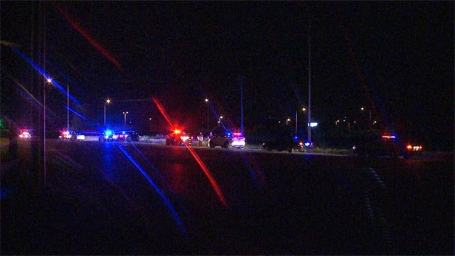 Police were on Interstate 255 near State Street when the shots were fired around midnight.