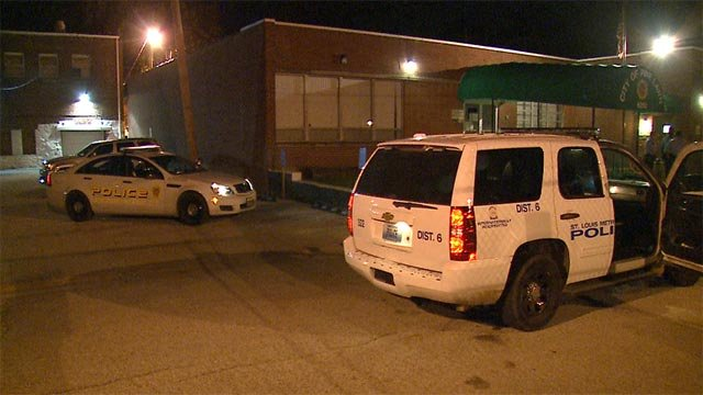 A man entered the Pine Lawn Police Department after being shot multiple times Wednesday morning